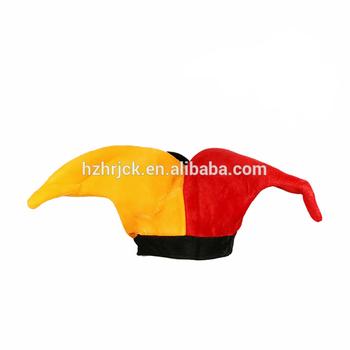 Party Carnival Plush Funny Jester Clown Hat Deluxe Plush Jester Hat ... e4f8e549b5c