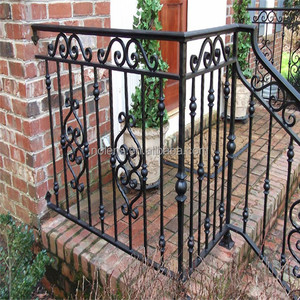 indoor stair railing designs/wrought iron balusters