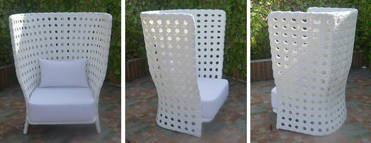 Foshan liyoung imported high end hd design aluminum wicker hotel outdoor furniture