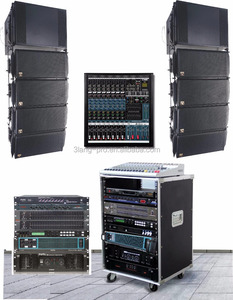 Single 12 inch line array professional speaker high power amplifier audio processor large stage audio Suit combination