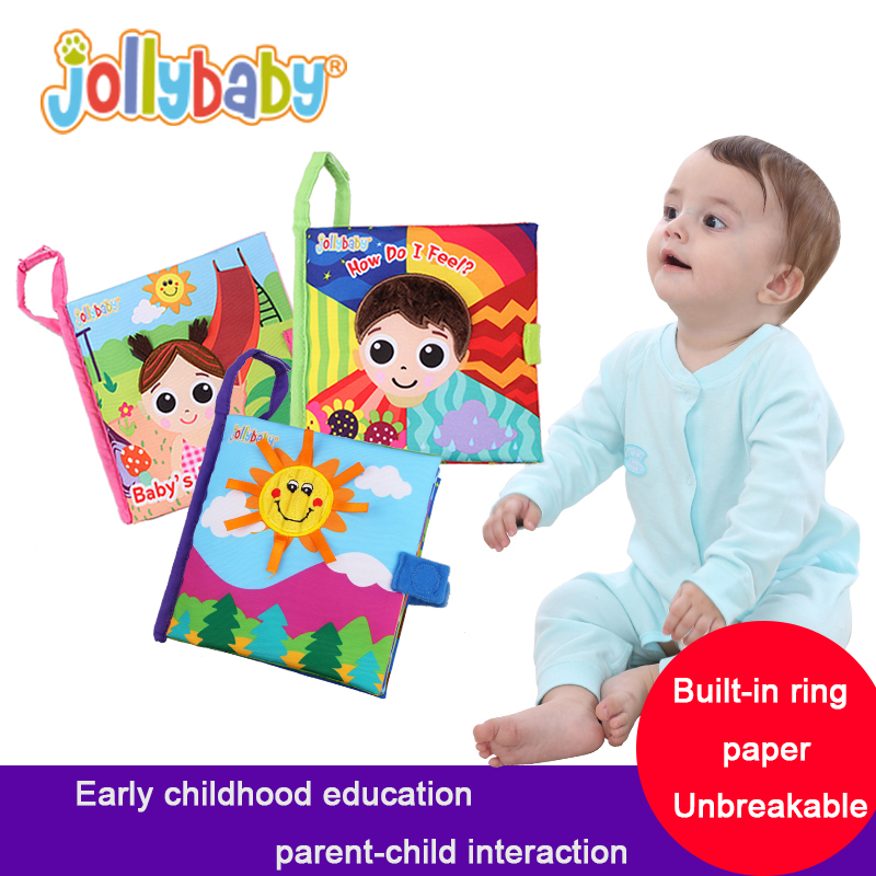 jollybaby baby cloth book baby plush <strong>toy</strong> educational <strong>toys</strong> for kids baby books first year memory book
