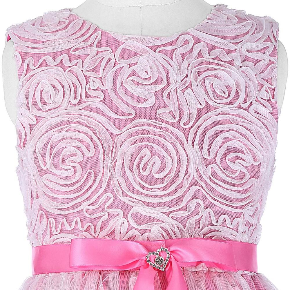 Rahmat Karin Tulle Jaring Rosette Flower Girl Princess Bridesmaid Blouse Pernikahan Pageant Party Dress 2 12