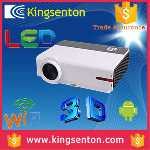 Full hd 1080p Android4.2 dual core wifi 3D LCD projector 1280*800 resolution projector for android phone samsung/LG/Sony