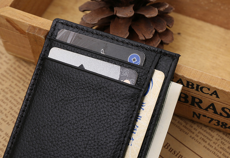Leather id credit card holder