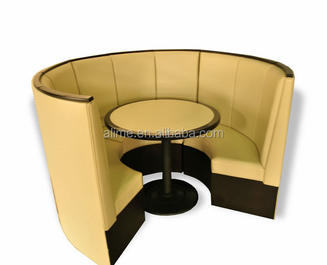 Alime Round Restaurant Booth Dining Tables And Chairs Sets