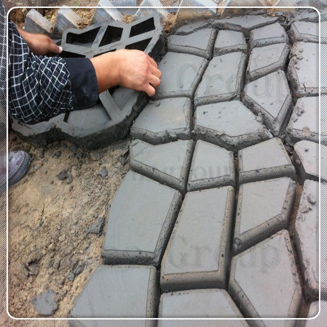 diy molde pavimento calzada patio moldes para concreto losas camino pathmate piedra del jardn a