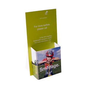 Custom Cardboard Brochure Holder Foldable POP Counter Display For Retail