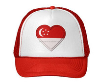 2016 Custom Fashion Embroidered cheap Singapore flag Hats promotion