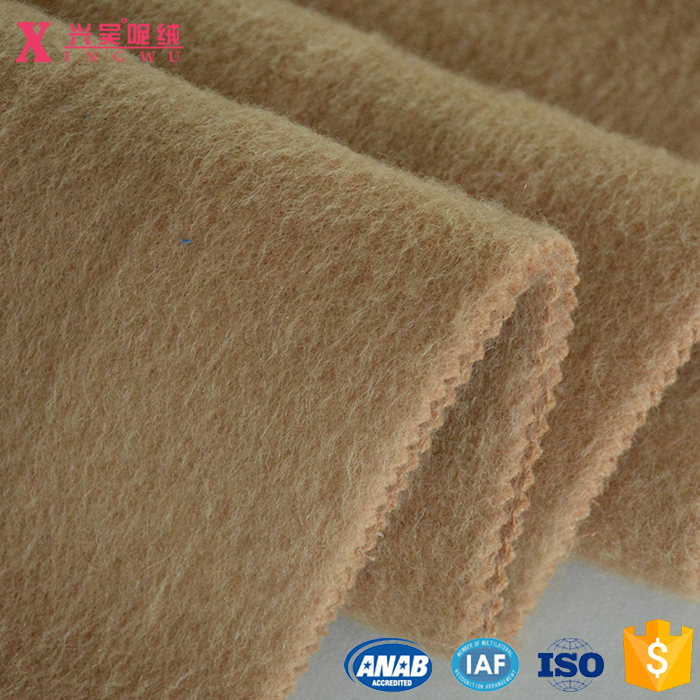 90008 55% wool 35% polyester 10% alpaca brushed mohair fleece woolen fabric for garment