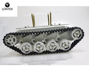 Lonten Metal Shock Absorper Smart Robot Tank Chassis With Dual DC Motor Plastic Tracks Aluminum Alloy Wheels For ard Project TS1