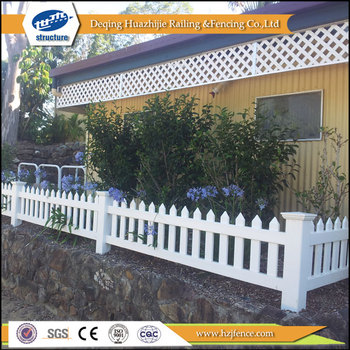 PVC Small Garden Picket Fence Design