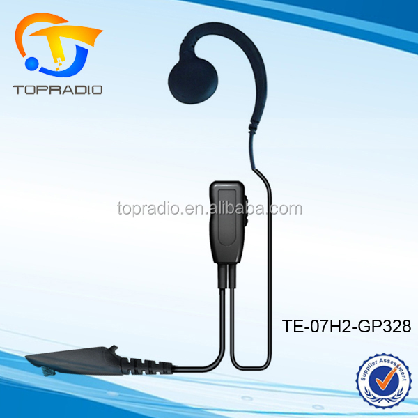 Topradio earphone untuk motorola radio handy talkie ear hook earpiece HT1250 GP328 GP320 GP680 MTX850 PTX780 MTX900 GP338