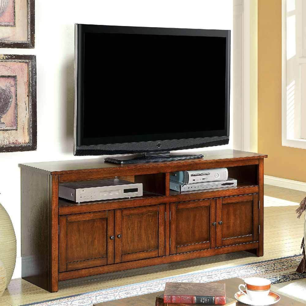 Get Quotations 1perfectchoice Regent Transitional Tv Console Stand Table Cabinet Door Open Shelves Antique Oak
