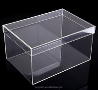 Luxury Clear Sneaker Shoe Box Clearl Display Case 100% Acrylic