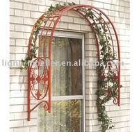 wrought iron garden district entrance arbor