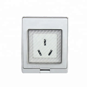 IP55 waterproof China Style 220/240V AC 16A 3 pin surface wall mounted 1 Gang universal electrical power female Socket outlet