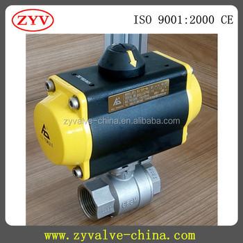 25mm Food Grade Pneumatic Actuator Ball Valve