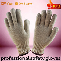 Best price hot sale promotion seamless knitting white finch gloves