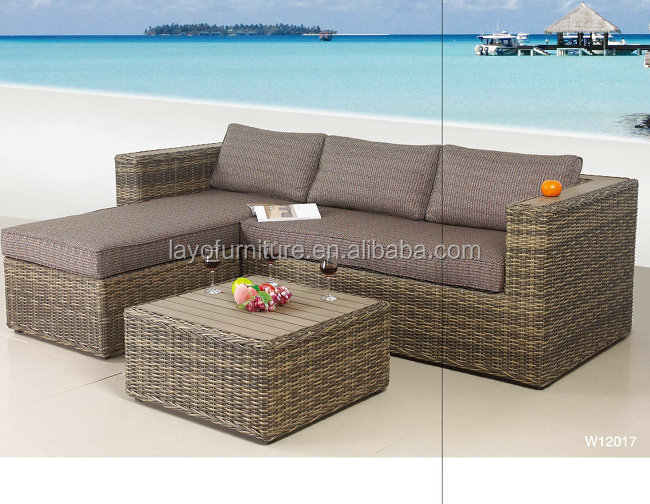Outdoor furniture 3pcs Rattan Sofa Sets resin outdoor rattan bar sets fiberglass rattan sofa set
