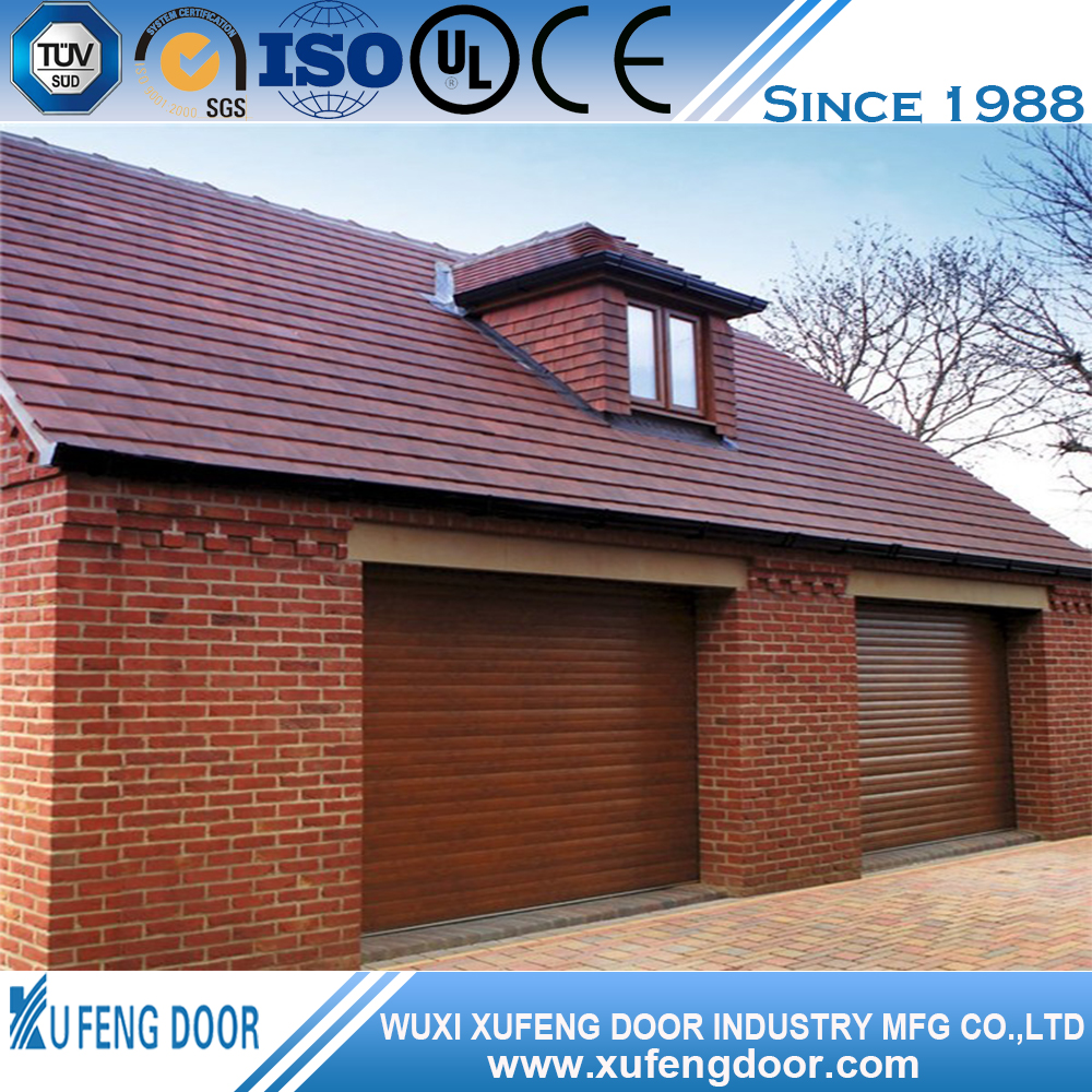 Automatic electric remote control up-ward sliding garage doors