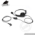 Medium Duty Headphone Over The Head Headset With Flexible Boom Microphone