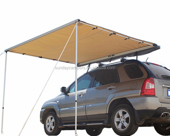 4wd 4x4 Vehicle Camping Side Roof Rack Canvas Awning - Buy ...