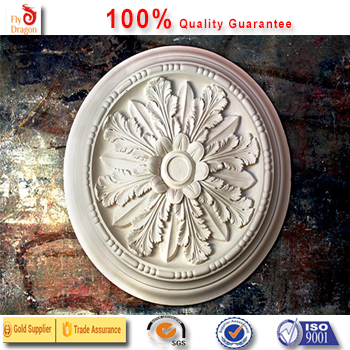 High quality polyurethane moulding 0d-1 ceiling rose