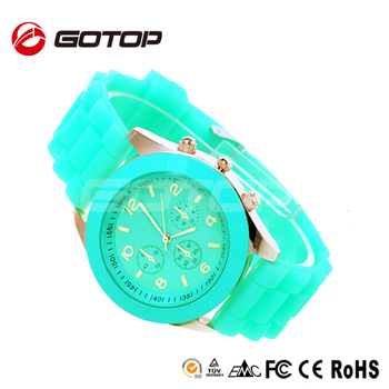 rose women sports dropship geneva watch wristwatches men quartz unisex analog silicon silicone casual gold watches bi