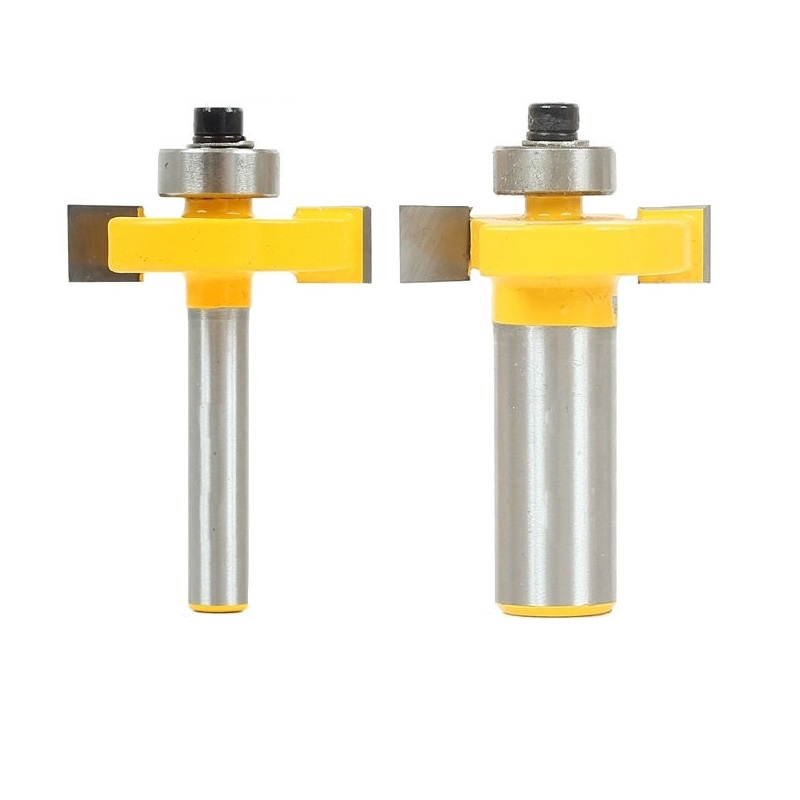 "1pc 5/16"" Slot Slotting & Rabbeting Router Bit - 1/4""-1/2"" Shank Woodworking cutter Tenon Cutter for Woodworking Tools"