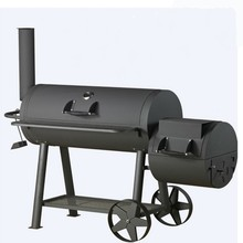 Outdoor Draagbare Met Trolley Hout Pellet Houtskool <span class=keywords><strong>BBQ</strong></span> <span class=keywords><strong>Grill</strong></span> Offset Smoker Pit Patio Achtertuin Vlees Fornuis
