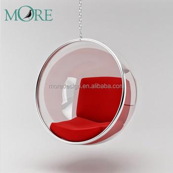 transparent plexiglass hanging bubble acrylic club mall fabric restaurant chair