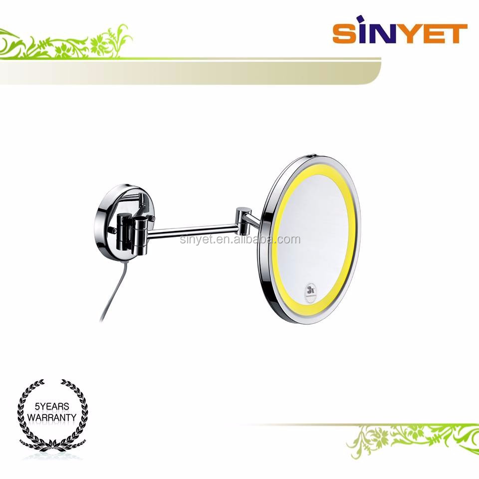 10 inch Wall Mount magnificent Makeup Mirror Face Mirror chrome plated Bathroom Mirror with light