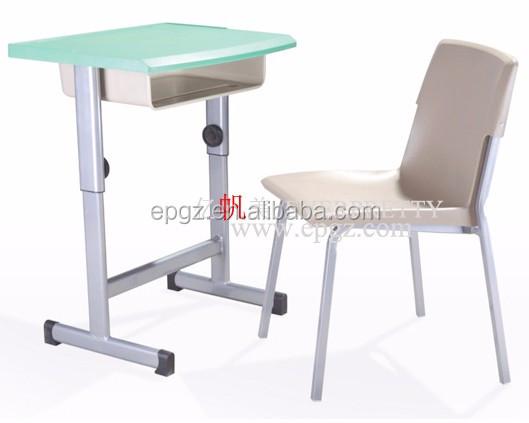 Vaste single bureau en stoel school meubilair secundaire bureau
