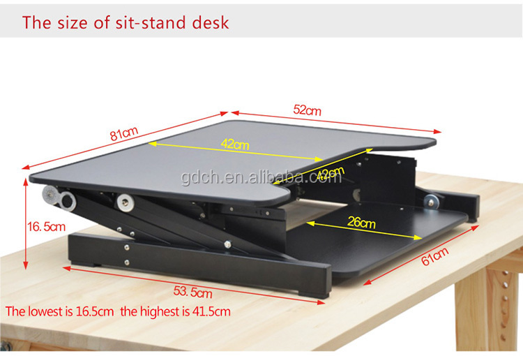 Commercial Office Desk Folding Portable Standing Laptop