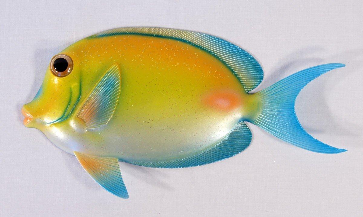 Buy Handpainted Glitter Cartoon Tropical Fish Wall Mount Decor ...