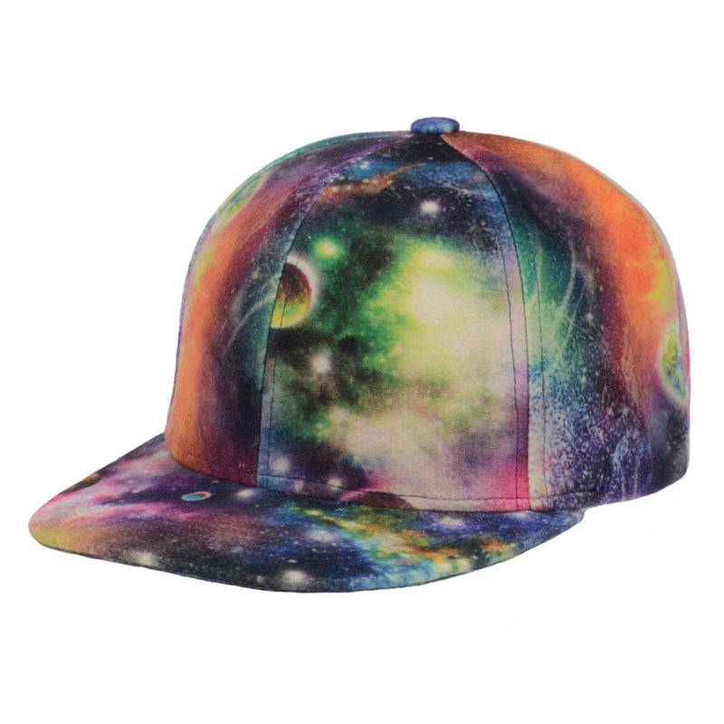 8d715580d7d Get Quotations · 2015 Fashion Design Galaxy Snapback Caps Snap back  Baseball Caps for Adult Basketball Cap Hiphop Hats