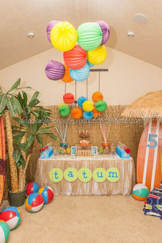 YIWU Wholesale Teen Beach Movie Birthday Party Ideas Accordian Lanterns Decorations Paper