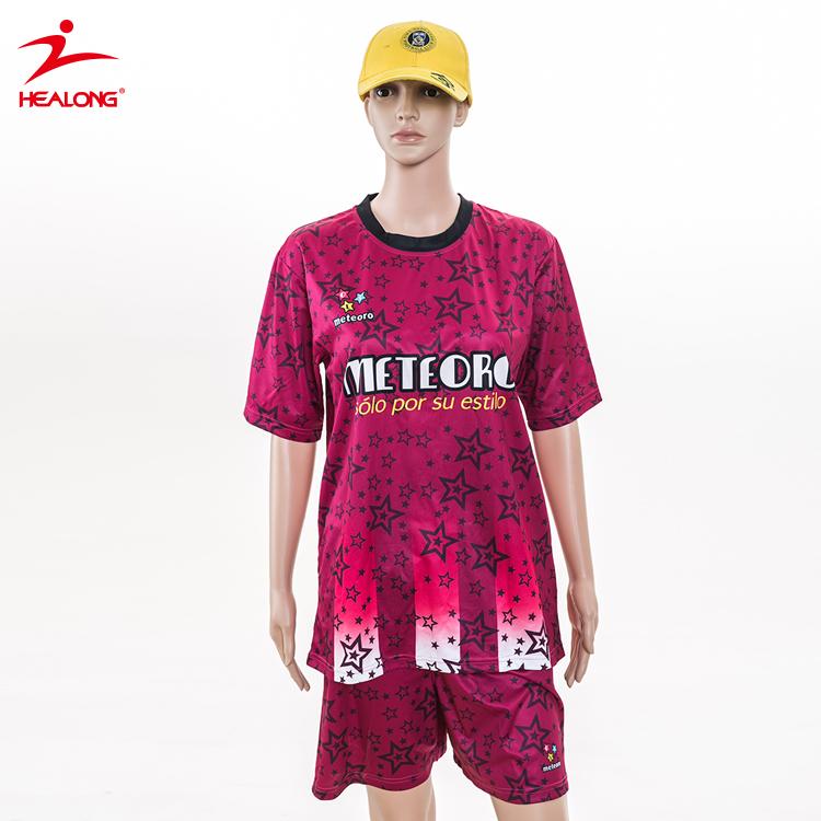 4c29ec3a4e44b Healong Diseño De Fútbol Jersey Nombres De Equipo Diseño Uniforme De Mujeres  De Fútbol - Buy Diseño Uniforme Mujeres Fútbol