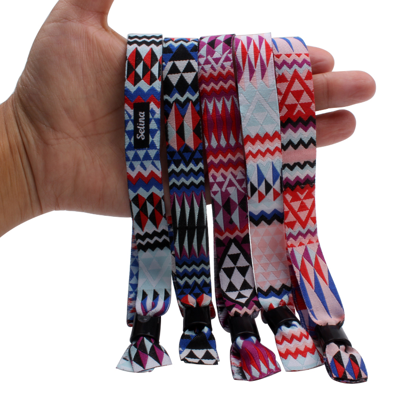 2020 handmade jacquard bracelet woven wristband custom luxury accessories gifts for women