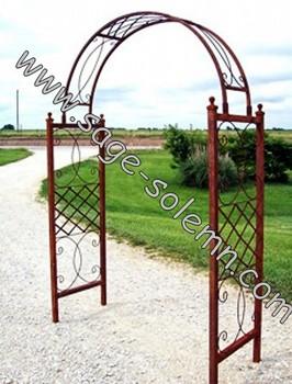 Decorative Wedding Artistic Black Metal Garden Arch