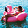 190 CM Inflatable Pink Flamingo Float Giant Swim Pool Floating For Adult Summer Sport Water Play Ride on