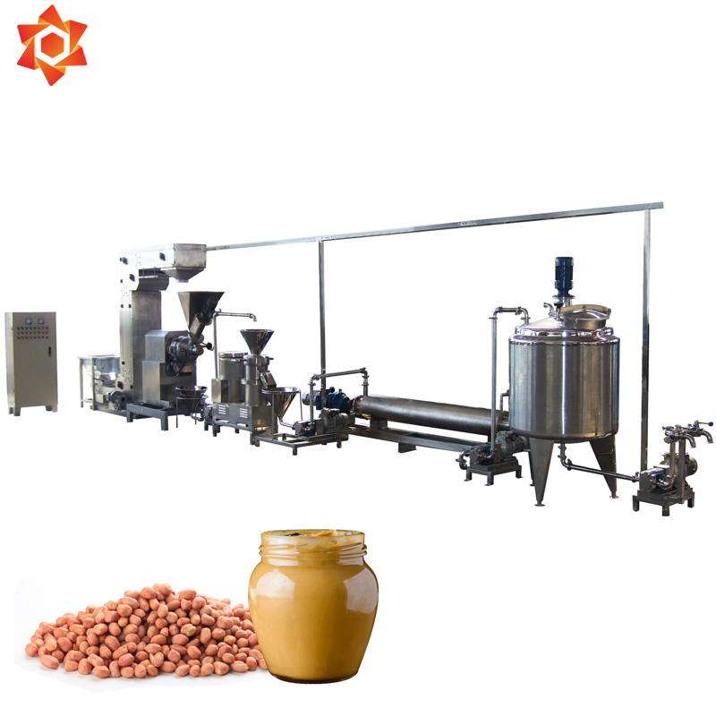 Automatic 200kg/h peanut butter making machine/almond sauce production Line/jam groundnut milling processing Machine machinery