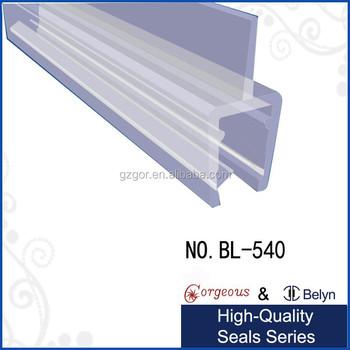 frameless shower door bottom sweep with drip rail