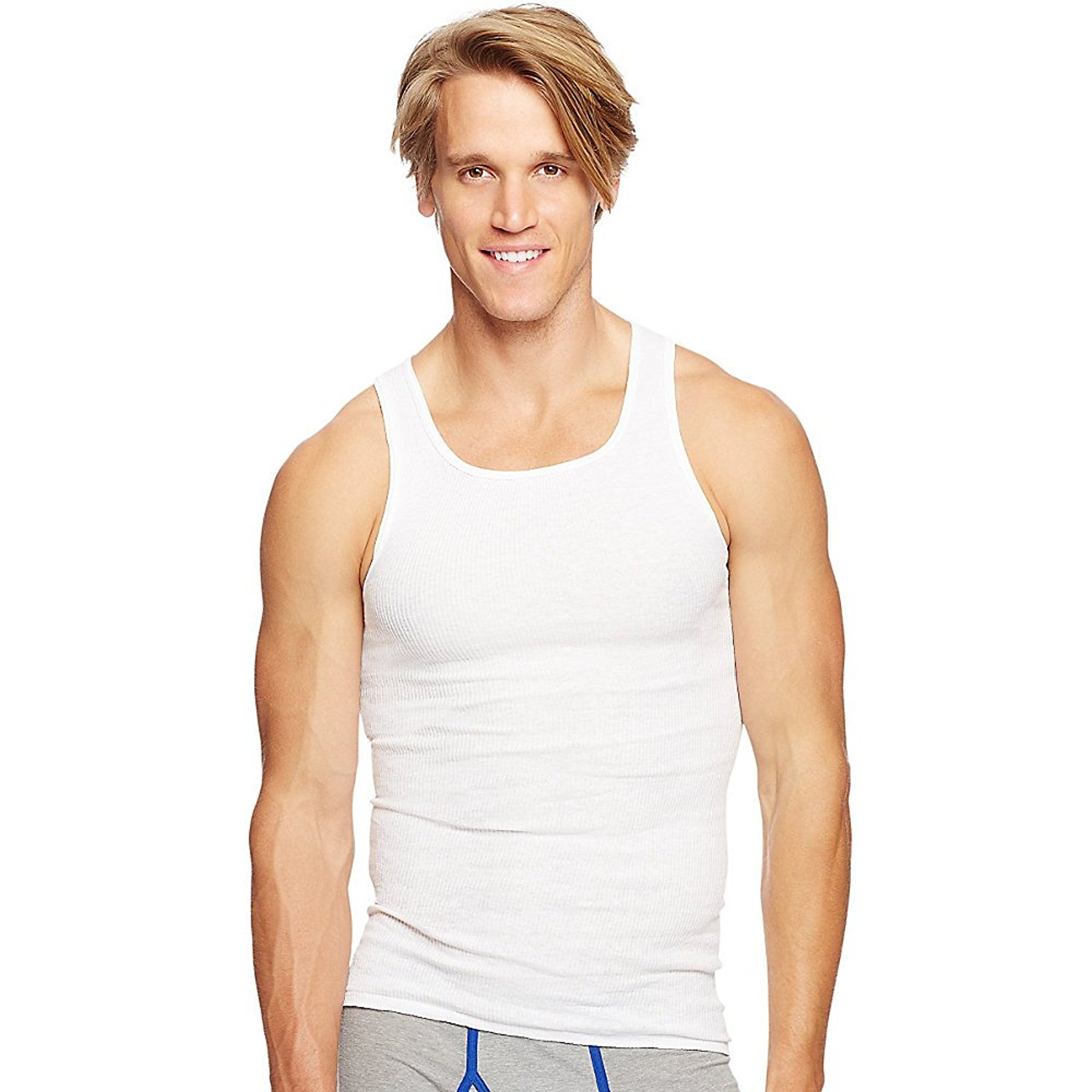 737000e7f635b Get Quotations · Hanes Men s 6Pack White A-Shirts Tagless Undershirts Tanks  Tank Tops