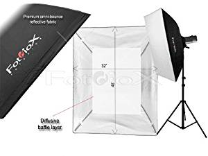 """Fotodiox Pro 32x48"""" Softbox PLUS Grid (Eggcrate) for Studio Strobe/Flash with Soft Diffuser and Dedicated Speedring, for Norman Series 900, LH2000, LH2400, IL2500 Illuminator Strobe Flash Light"""