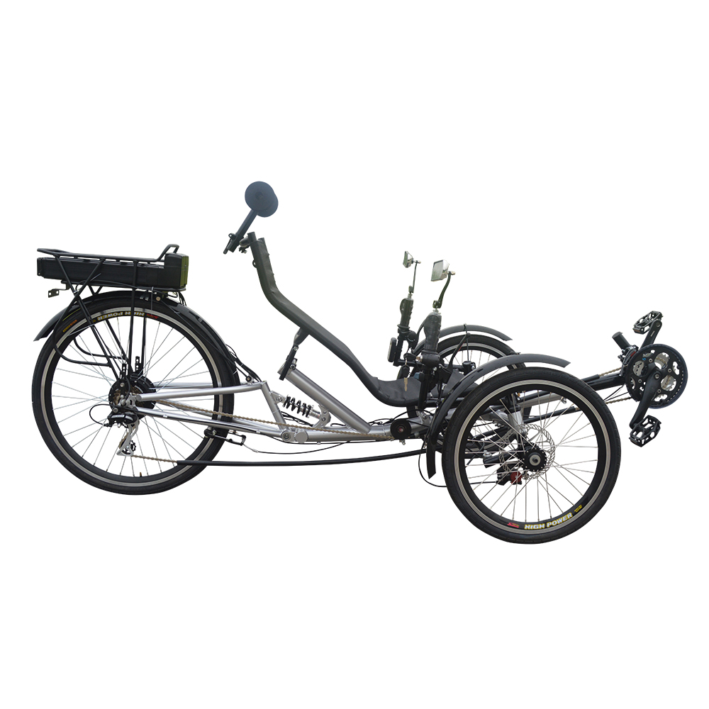 New Traveling Rear Suspension Three wheel Electric Recumbent <strong>Bike</strong> with Free Accessories