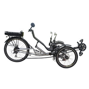 New Traveling Rear Suspension Three wheel Electric Recumbent Bike with Free Accessories