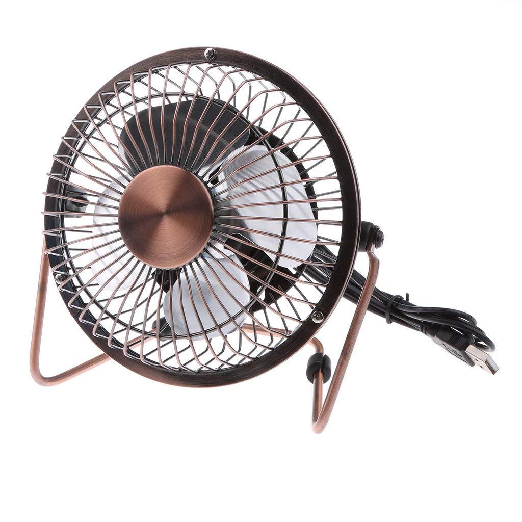 Super Quiet Portable Cooling Fan for PC//Laptop 2 Beszin USB 4 Personal Mini Desktop Fan Home Travel Office