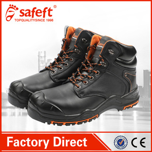 332ebd20fa3 Fashion active leather workman's PU Rubber work steel toe safety shoes
