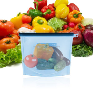 silicone Reusable Bags - Premium Washable Mesh Bags for Grocery Shopping & Storage of Fruit Vegetable & Garden Produce bag